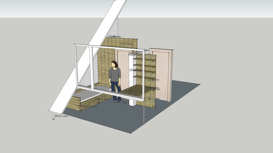 slaapkamer van steigerhout