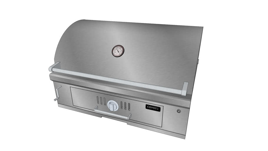 36″ Charcoal Grill - Coyote Outdoor Living, Inc.   3D ... on Coyote Outdoor Living Inc id=48200