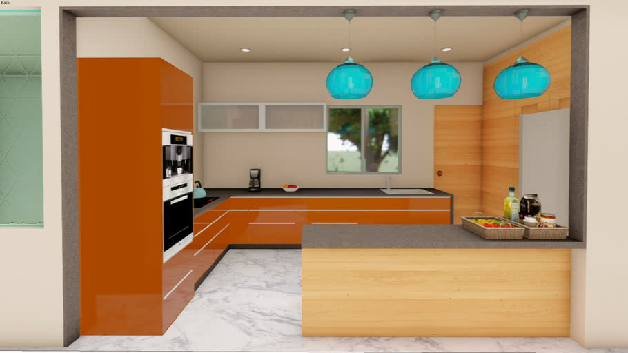 modular kitchen 3d model  3d warehouse