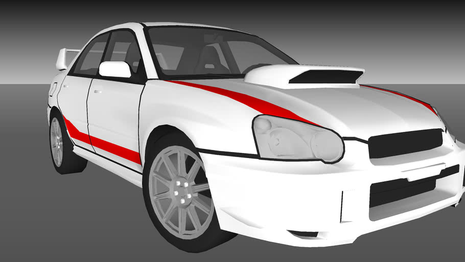 Subaru Impreza WRX STI- Born to Race   3D Warehouse   Name Of The Subaru In Born To Race      3D Warehouse - SketchUp
