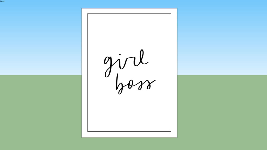Quadro Girl Boss Lettering