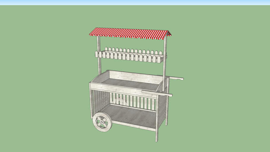 Striped Market Cart