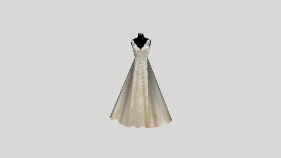 Generic Wedding Dress on Dress Form