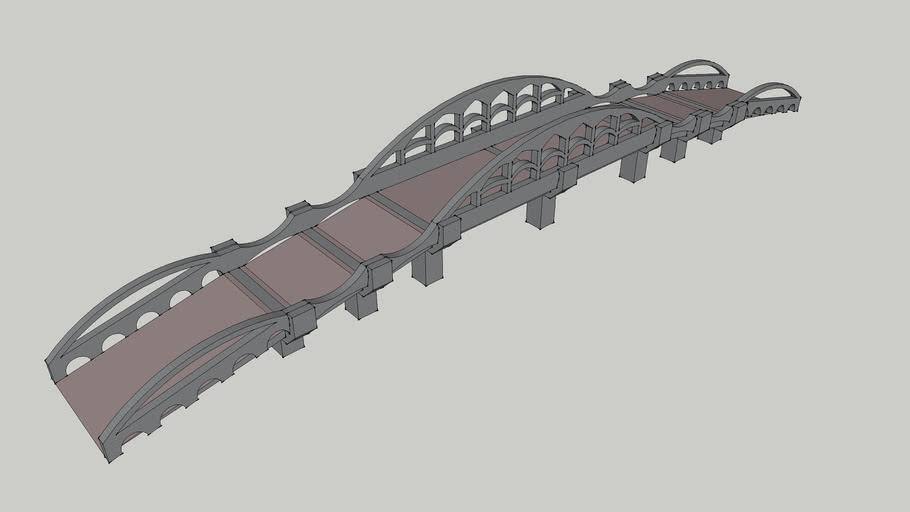 Fancy Concrete Bridge (Large)