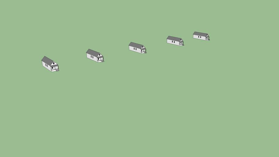 5 shotgun houses