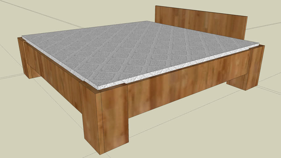 Bed made of Wood 2m x 2m