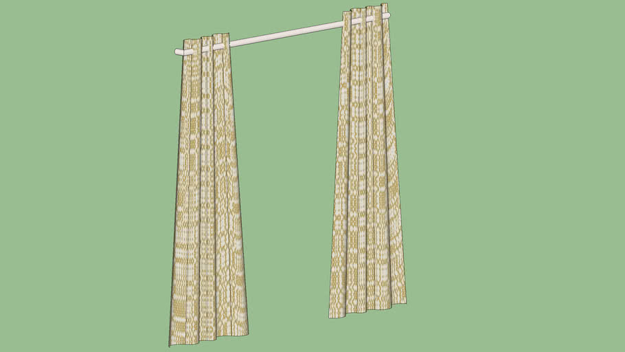 """Crate & Barrel Moritz White and Gold Curtains 84"""""""