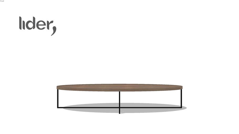 Mesa de centro Edge Elíptica