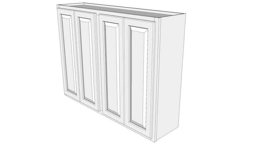 "Briarwood Wall Cabinet W4836F - 12"" Deep, Two Sets Butt Doors"