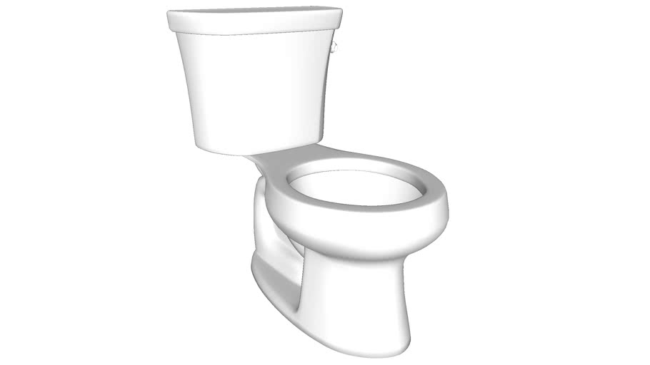 K-3997-RA Wellworth(R) two-piece round-front 1.28 gpf toilet with Class Five(R) flush technology and right-hand trip lever, seat not included