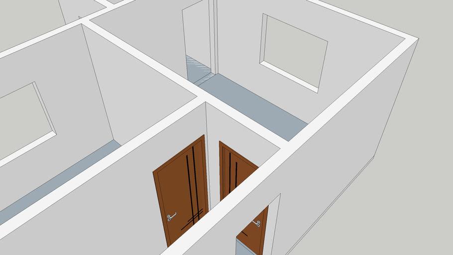 Porta interna de madeira