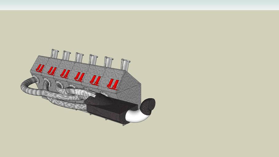 moteur 6 cylindres, 6 cylinders engine bmw e46