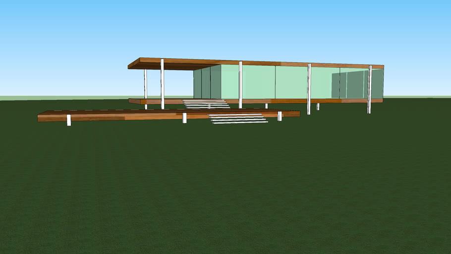 Дом из бруса и стекла