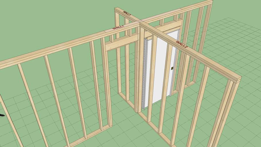 Pocket Door with Tee Intersections