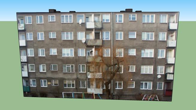 Blok Pucka 1 w Gdańsku - 3D
