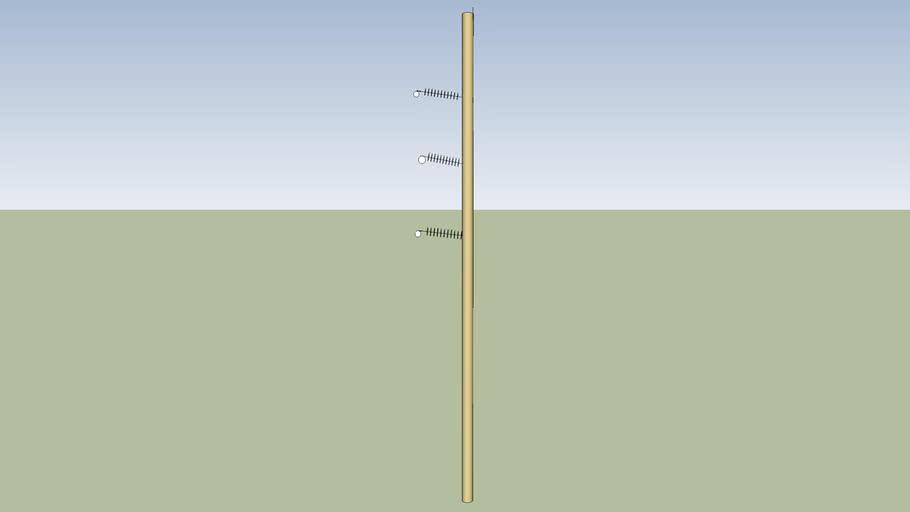 A Cement pole power