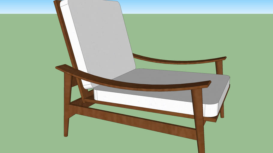 West Elm Mid-Century Outdoor Lounge Chair