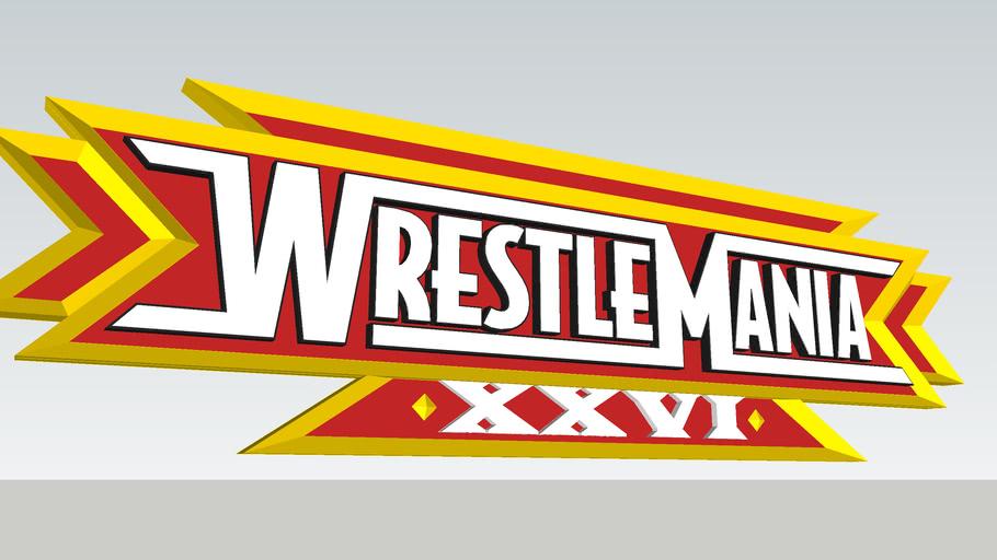 WWE WrestleMania XXVI 3D Logo