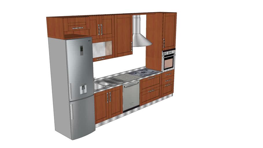 Cucina Componibile 360 Cm 3d Warehouse