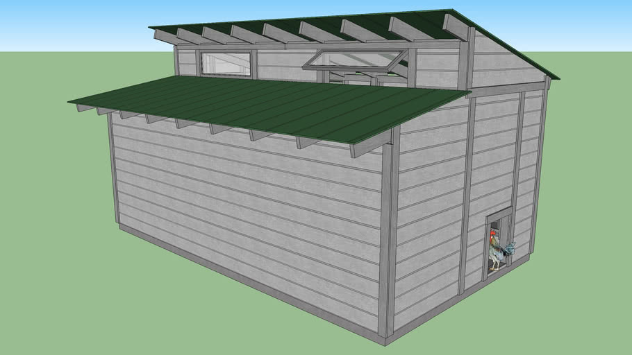 10' x 16' 60 box Chicken Coop (497Kb)