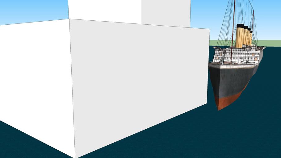 Titanic hits iceburg