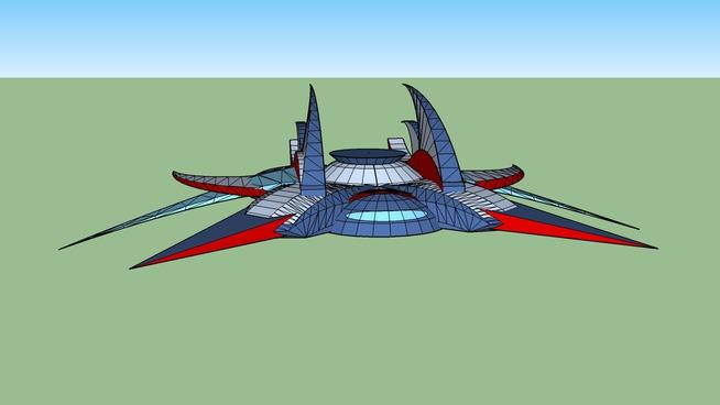 Alien stealth bomber spaceship