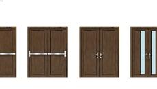 metal double door
