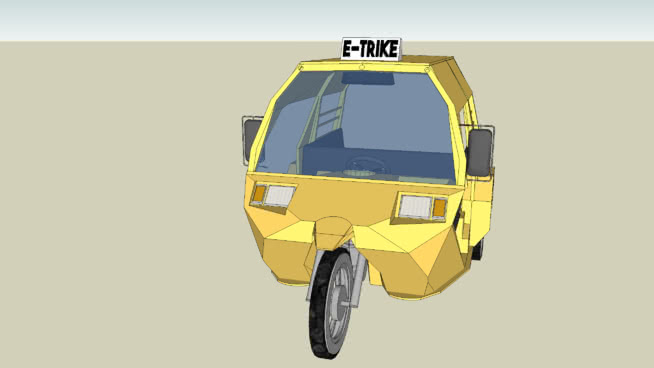 E-TRIKE (Electric Trike/Taxicle)
