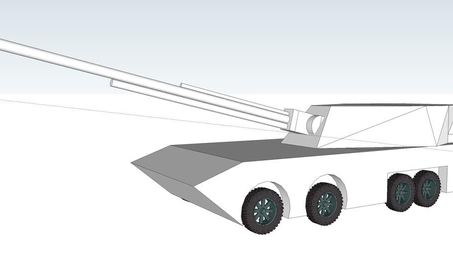 HA-17 self-propelled howitzer 122mm