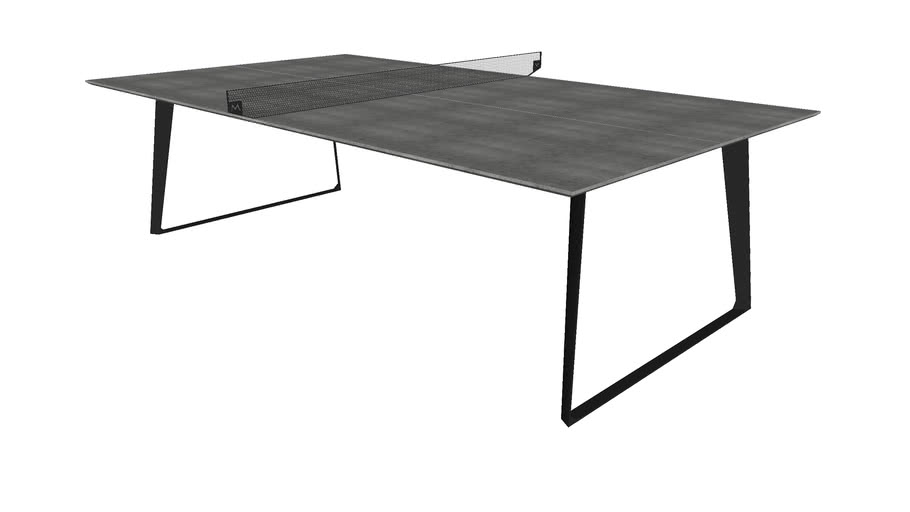 Amsterdam Outdoor Ping Pong Table In Gray Concrete By Modloft 3d Warehouse