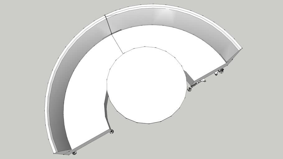Xf86 Orangebox Perimeter Curve Donut low back- half circle