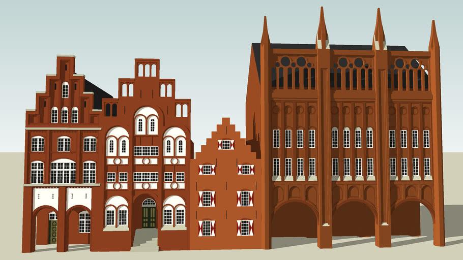 Brick gothic facades