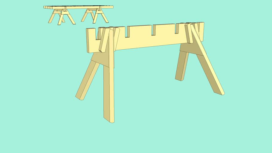 Sawhorse & saw table