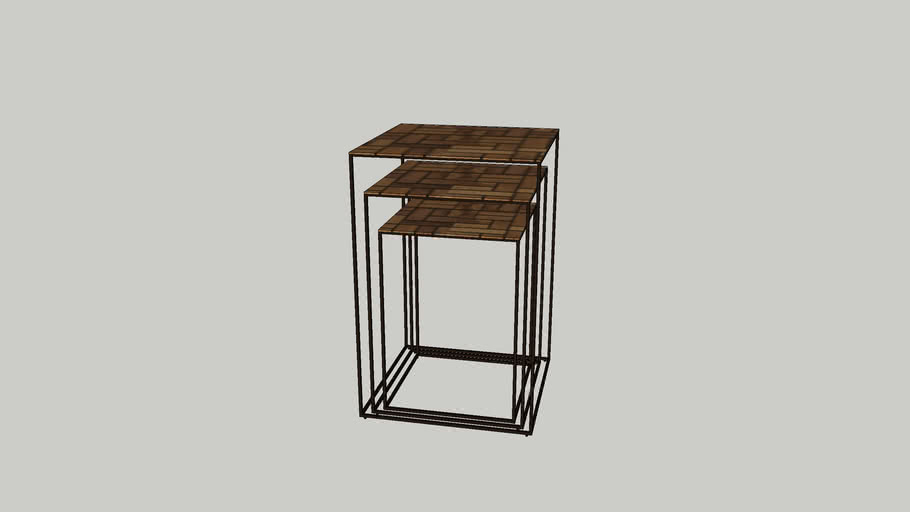 [Mondrian] Pedestal set of 3 (MO790010)