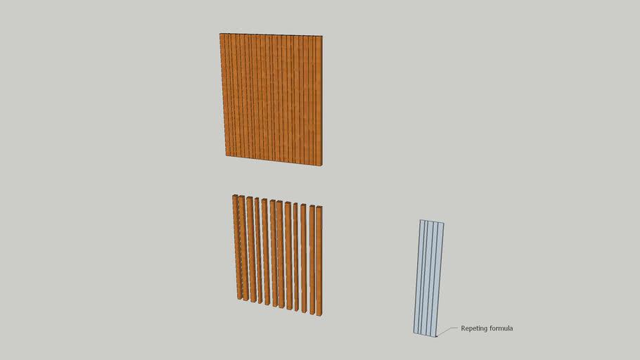 Multisize slats