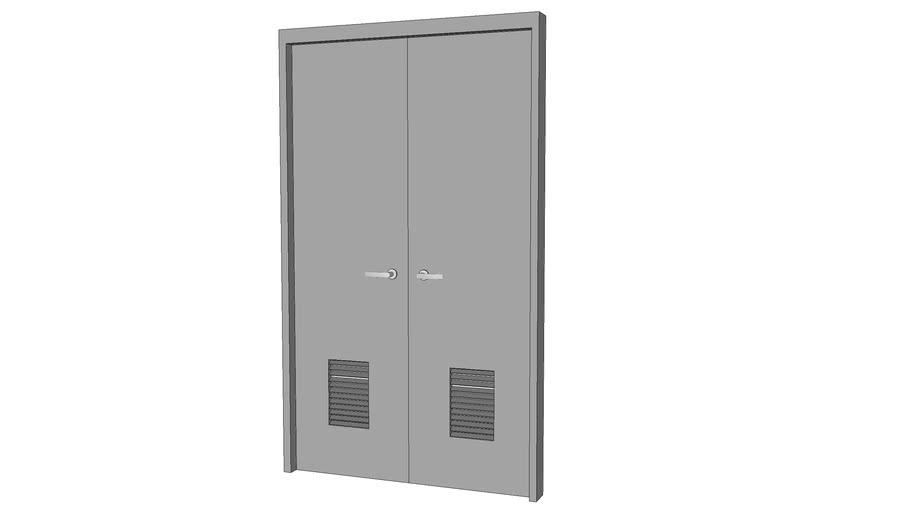 """Metal Door Louvered (6'-8"""" X 4'-0"""") Double"""