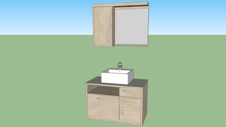 Gabinete de Banheiro Village
