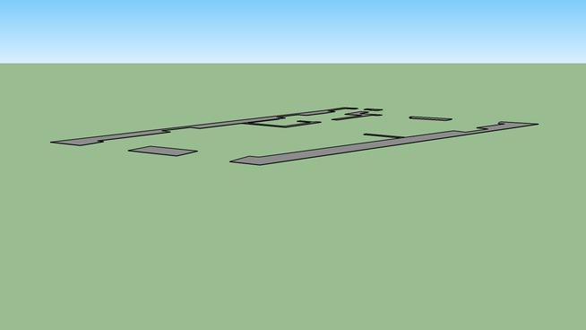 studio flat plan with measure