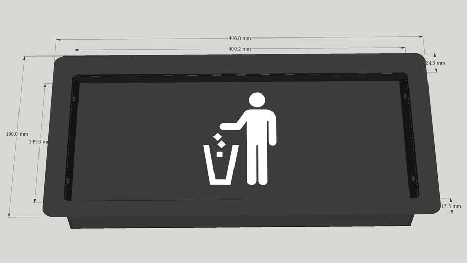 [EK72/EK77] Afvalklep  / Small trash receptacle door / Müllklappen