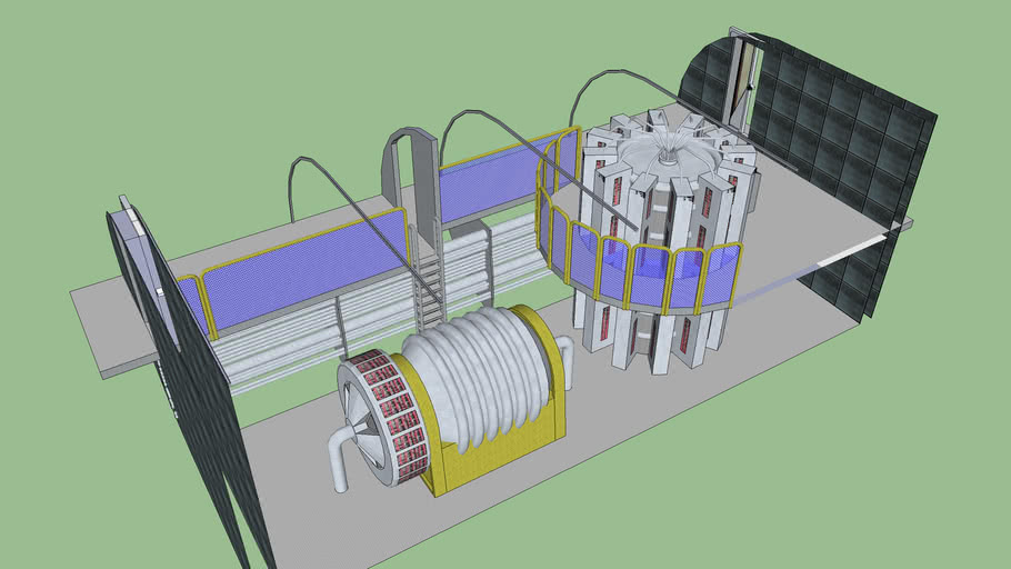 Fusion Reactor and Turbine