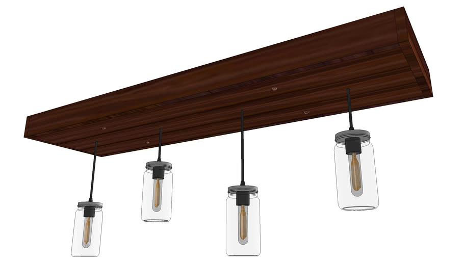 Mason Jar Ceiling Light