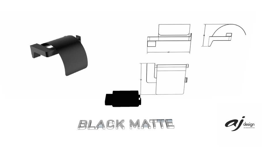 PAPELEIRA AJ DESIGN BLACK MATTE