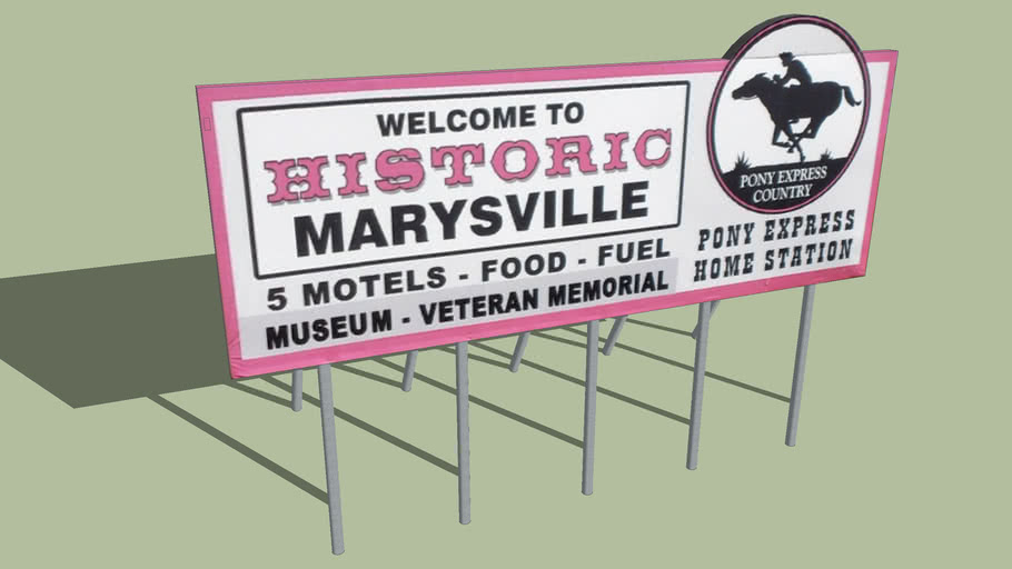 Welcome Sign Marysville, Kansas
