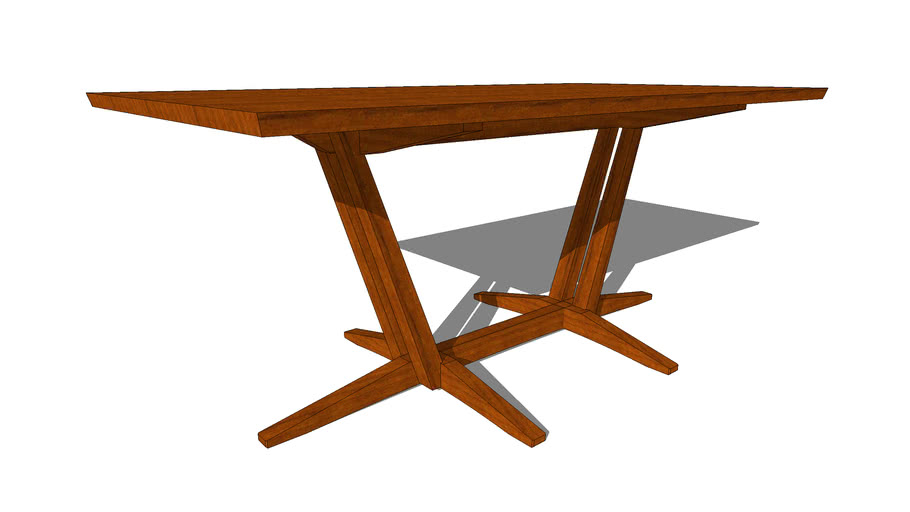 "Edo Trestle Table 71"""