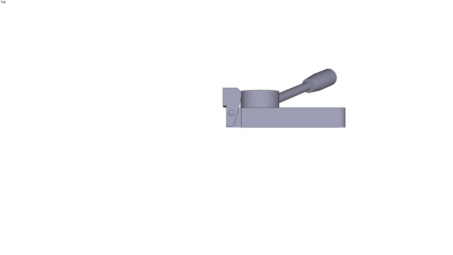 Horizontal adjustable cam clamp - Form D - right rotation - 121.5 x 40 x 40 mm