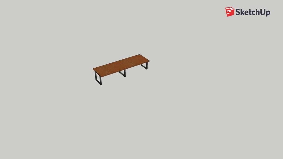 Industrial Wood Table