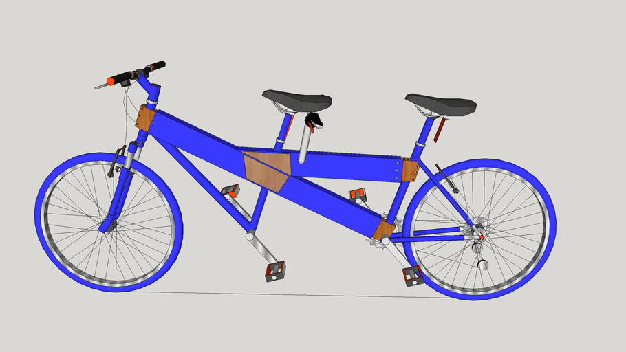 tandem bike blue