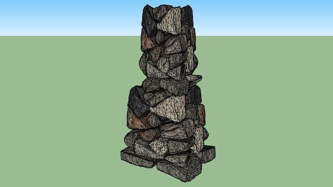 słup kamienny z teksturami