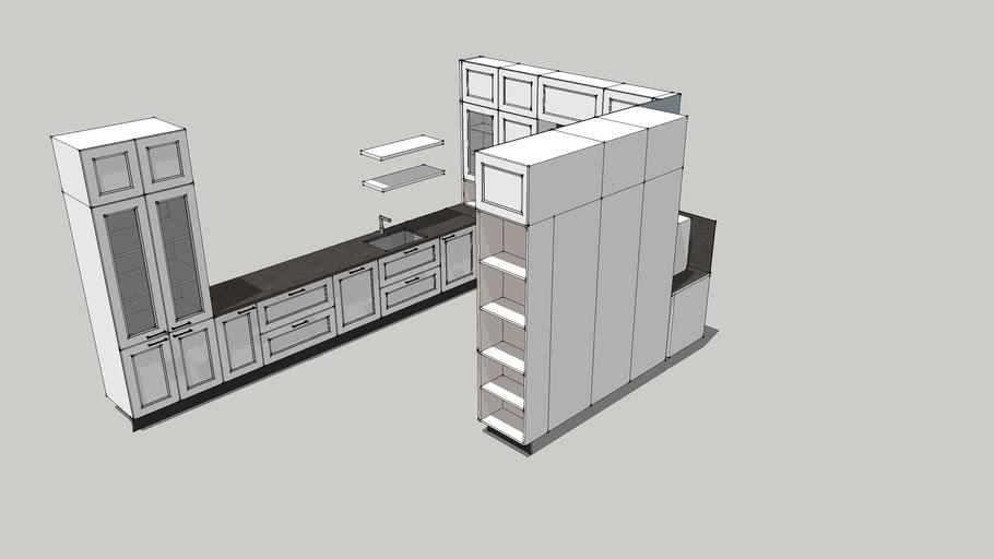Classical U-shaped kitchen