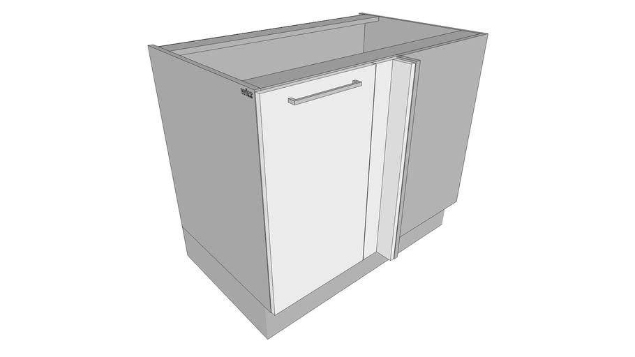 Base Blind Corner Cabinet w/1 Door – multi doors styles – dynamic kitchen cabinets – parametric dimensions – Witt Kitchen ®